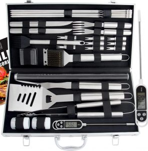 Grill accessories and tools storage box