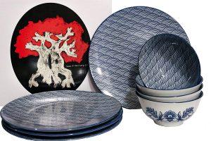 Japanese lead and cadmium free dinnerware set