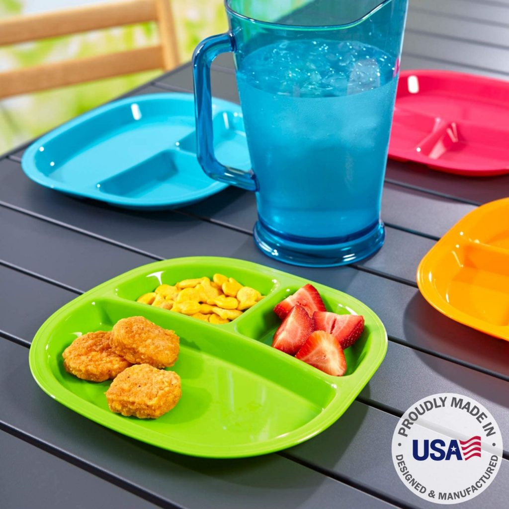 Kids Divided Plastic Plates