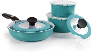 Neoflam cookware set with detachable handle