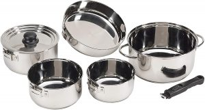 Stansport stainless steel Stackable Cookware set