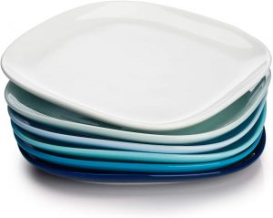 Sweese Porcelain Dinner Plates - dinnerware sets for 6 without mugs