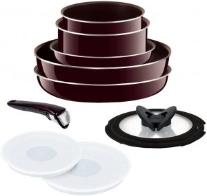 T-Fal frying pan point 10 set with detachable handles
