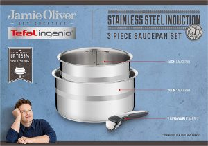 Tefal ingenio stainless steel Jamie Oliver cookware set