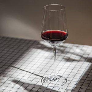 Triangle brand lead free hand blown crystal glass wine