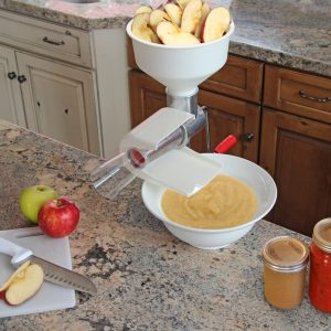 Apple sauce maker and food strainer