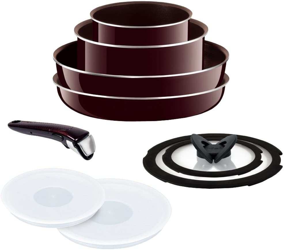 handle-less pots and pans and smart space cookware sets