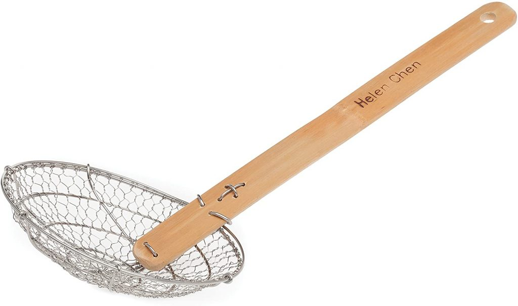 Stainless steel wooden strainer- a substitute for food mill