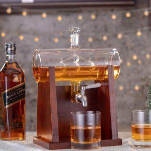 Jillmo Vodka Whiskey Decanter with Glasses