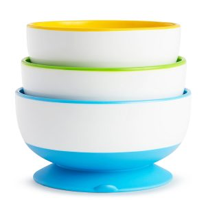 Munchkin Suction Baby Bowls that stick to the table