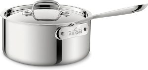 All Clad stainless steel cookware chef recommended saucepan