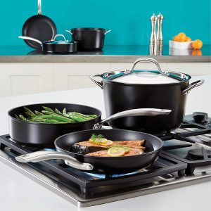 Circulon pots and pans suitable for gas, glass, electric and induction cooktops
