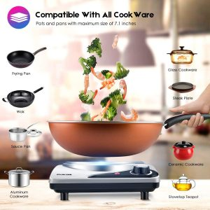 tiny house electric stove compatible with all cookware
