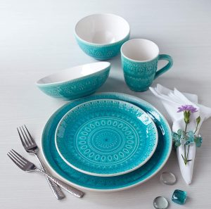 Lead and cadmium free Euro ceramica dinnerware set