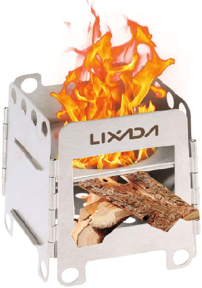 Lixada camping portable tiny house wood stove burner
