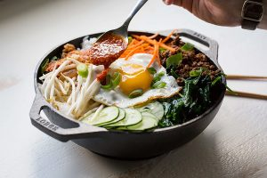 Lodge seasoned cast iron Wok with loop handles for Electric stove and all other cooktops