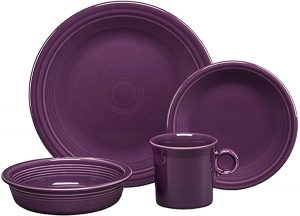 Mulberry Fiestaware 4 Piece Dinnerware sets