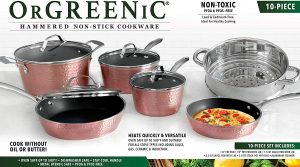 Best Orgreenic cookware sets for ceramic hobs - non-stick and aluminum construction set