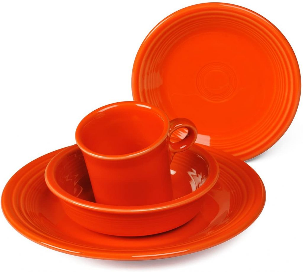 Poppy color fiesta 4 Piece Dinnerware set