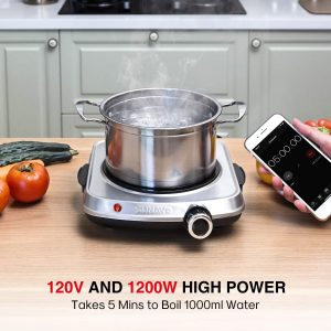 Sunavo electric portable burner for small kitchen, camping and RV