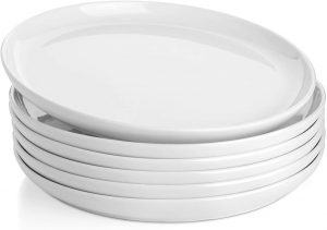 Sweese Porcelain White Round Dinner Plates