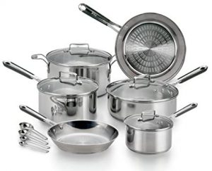 Tefal Performa Stainless steel cookware set can be used for all cooktops like gas, electric and induction