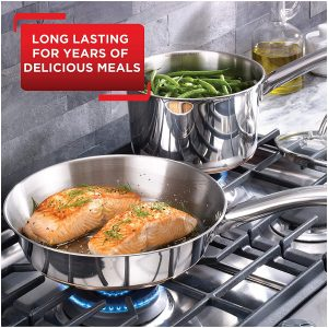 Tefal Ultimate copper bottom stainless steel cookware for gas stove