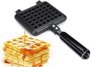 Cast iron stove top waffle maker