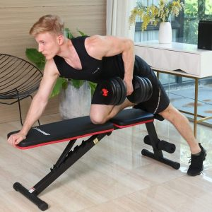 Weight bench Press body workout at home for muscle building and weight loss