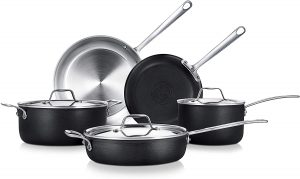 Overall best Nutrichef stainless steel cookware set for glass top stoves 2019