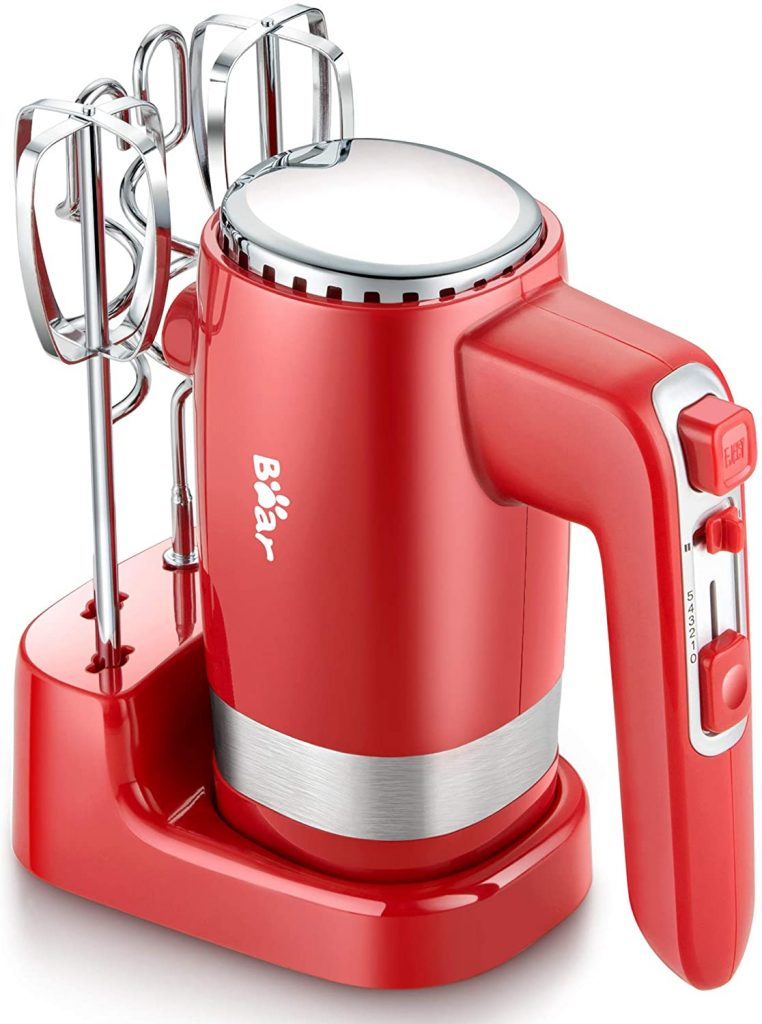 5 Speed Ultra Power Electric hand mixer for cookie dough with beaters