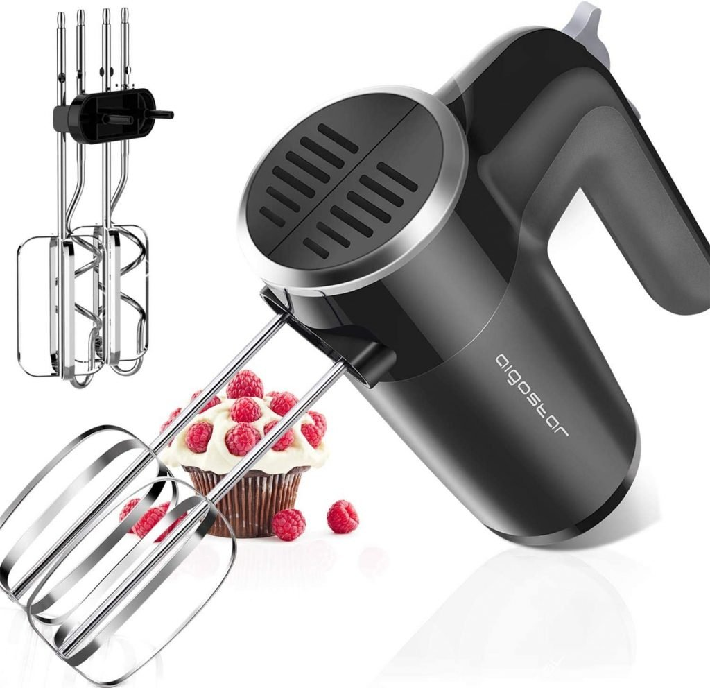 Aigostar 6 speed best electric hand mixer for cookie dough and baking cake