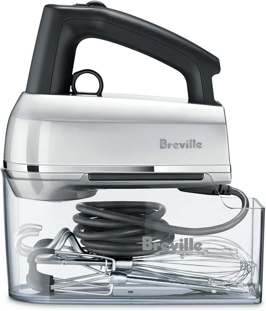 Breville hand mixer for kneading dough, whisking cream and mashing potatoes