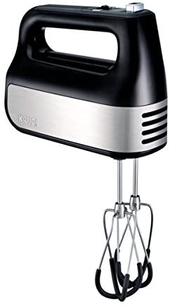 Krups electric hand mixer for mixing ingredients for your cake, beating eggs for omelets or whipping up your cream.