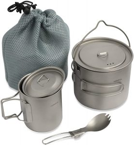 camping cookware for open fire