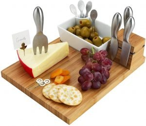 Personalized monogrammed cutting board and knife set
