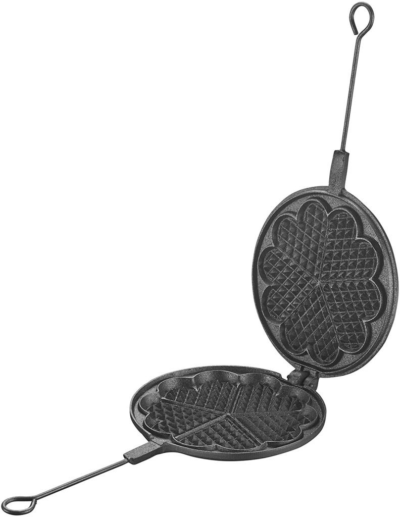 Waffle maker for induction hob