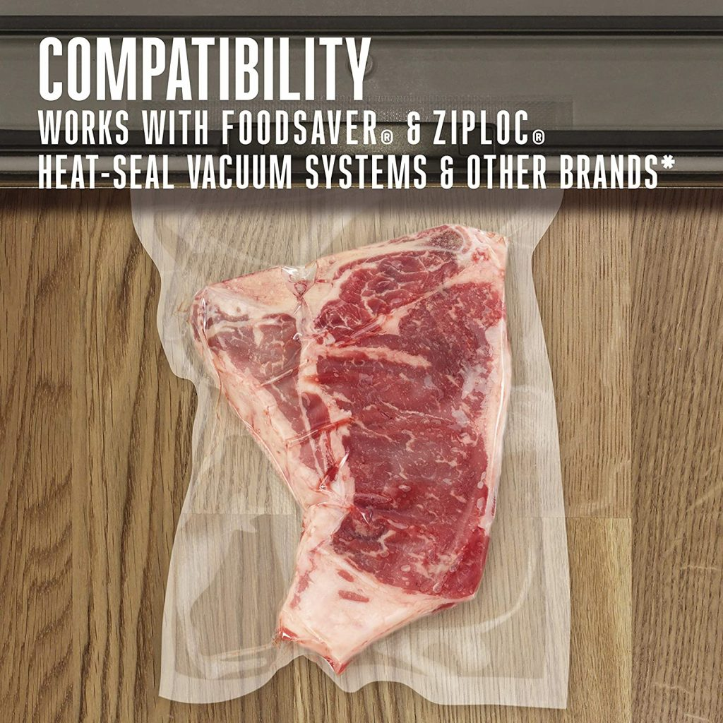 weston vacuum sealer bags compatible with foodsaver bags and ziploc bags