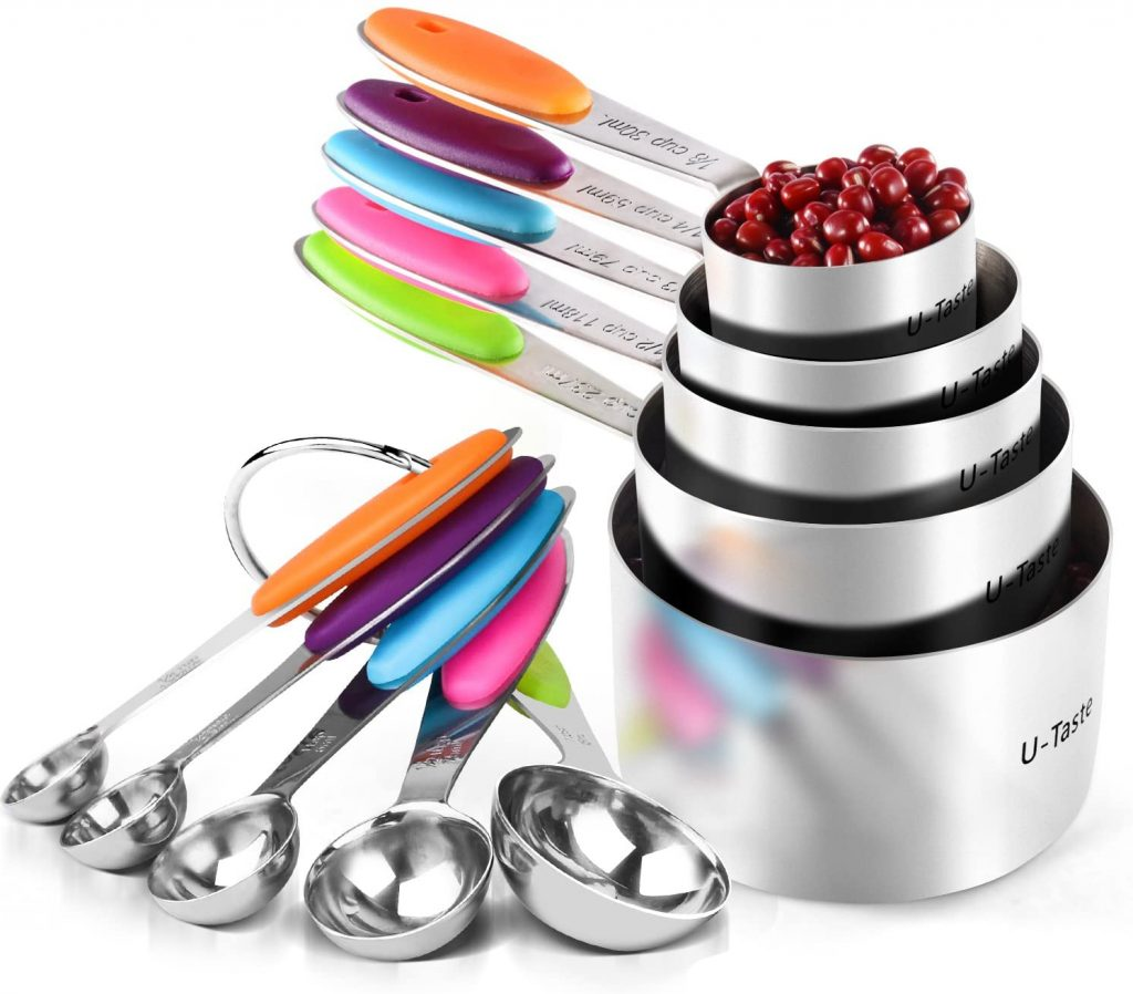 U-Taste Measuring Cups and Spoons Set  Safe for you to measure out liquid and dry ingredients.
