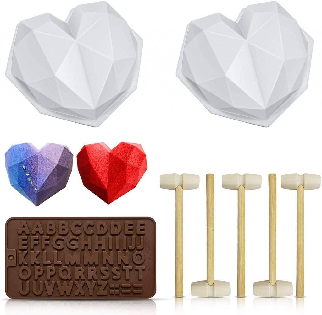 heart shaped silicone baking mold for chocolate