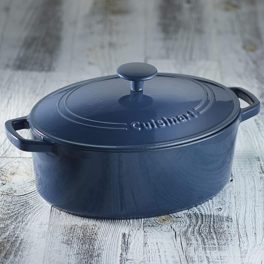 Cuisinart porcelain enameled cast iron skillet and casserole oval dish