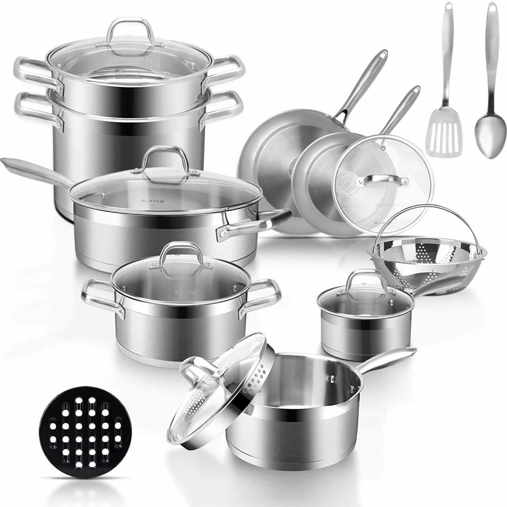 Duxtop stainless steel non stick Induction cookware set