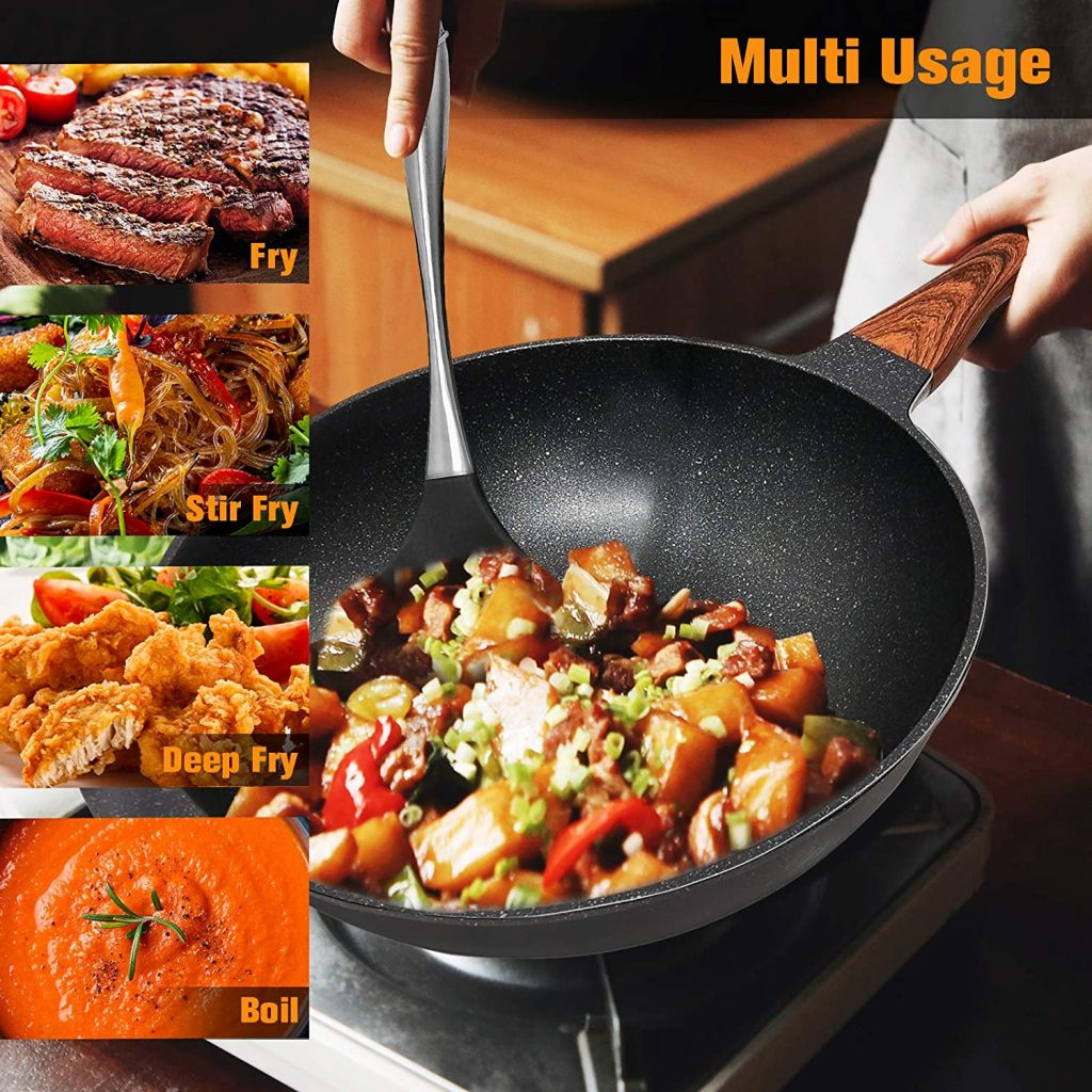 Versatile and multi-use Aneder non-stick induction fry pan